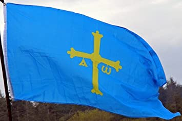 Asturias bandera, 3 x5 español bandera España