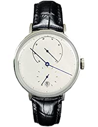 Men's Swiss Automatic Movement Watch Black Leather Strap Watches