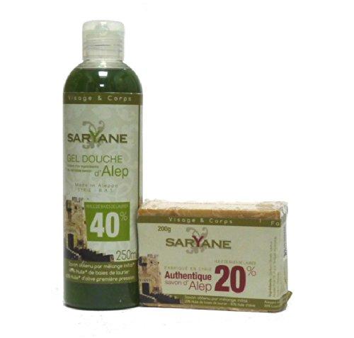 Aleppo Seife & Duschgel, 2-teiliges Pflegeset - parfümfrei, trockene, reife , empfindliche Haut