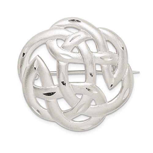 925 Sterling Silver Finish Irish Claddagh Celtic Knot Pin Fine Jewelry For Women Valentines Day Gifts For Her
