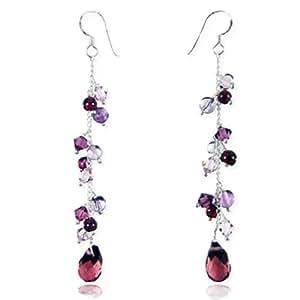 Amazon.com: 925 Sterling Silver Lavender Purple Swarovski Crystal