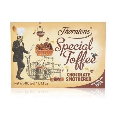 Thorntons Chocolate Smothered Toffee Box 485G by Thorntons (Image #1)