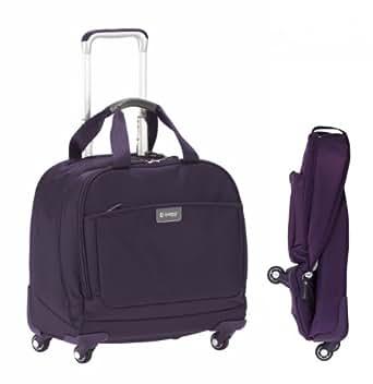 """biaggi Contempo Foldable 16"""" Spinner Tote CLOSEOUT (Purple)"""