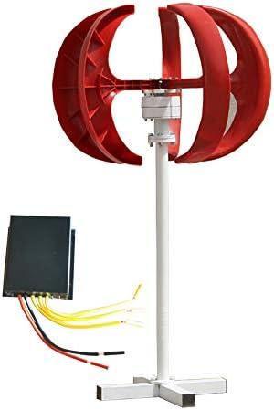 500W ~ 800W DC 24V Windturbine Generator Kit 5PCS Blades Vertikale Windenergie-Turbine-Generator Rote Laterne Stil mit Ladereglern für Power Supplementation (wasserdicht Controller),500W-12V