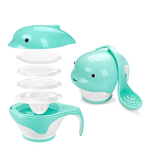 - Angel Baby Multi-Function Food Supplement Grinder, Manual Grinding, Puree Cooking Machine, Complementary Tool, Suitable for Home Kitchen Use, Blue