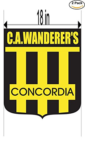 fan products of Club Atletico Wanderer s de Concordia Argentina Soccer Football Club FC 2 Stickers Car Bumper Window Sticker Decal Huge 18 inches
