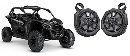 """Can-Am Maverick X3 6.5"""" Roll Bar Roll Cage Kicker Tower Speakers+Enclosure Pods"""