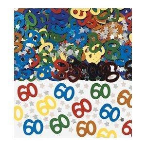 Confetti 14g Pack - PACK OF MULTICOLOURED 60TH TABLE CONFETTI 14G by BCBGMAXAZRIA