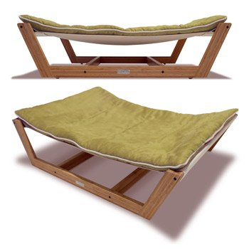 Pet Hammock Large Bamboo Dog Bedpet Hammock With Kiwi Green Cusion