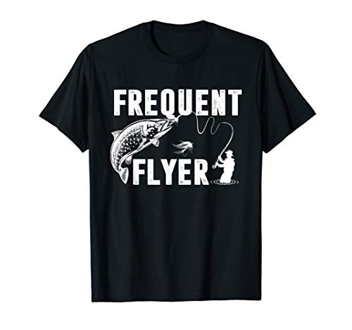 (Frequent Flyer Shirt Fly Lures Fishing T-Shirt Gift )