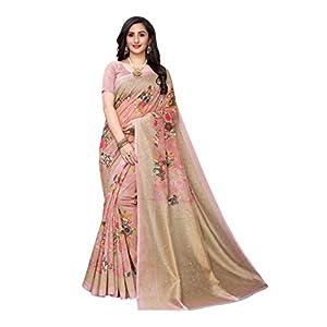 ANNI DESIGNER Women's Silk Saree With Blouse Piece