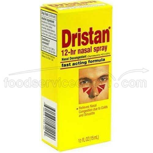 Dristan Nasal Decongestant Spray, 0.5 Ounce - 6 Box per Pack - 12 Packs per case.