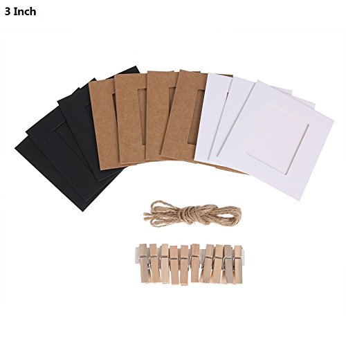 Inch Diy Combination 10pcs Wall Photo Frame With Clips And Rope Hanging Picture Album Kraft - Insert Envelopes Instax Vera Boy Mount Family Xxl Hanging Album ()
