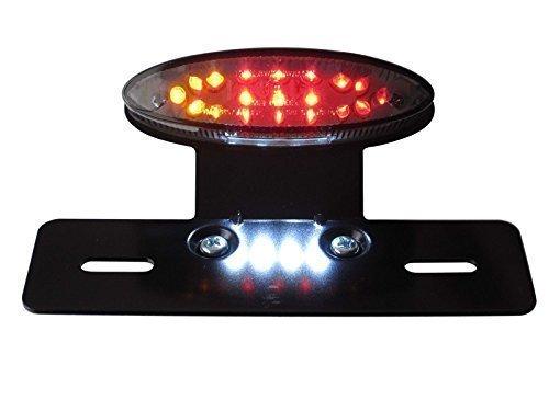 Universal Glühbirne LED Stop / Heckleuchte mit eingebautem Blinker / Abbiegen Signale, Getöntes Glas und Metall Halter für Motorräder Motorbikes Projekt Maßgefertigt