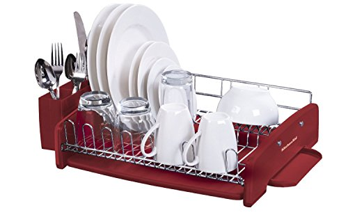 KitchenAid 3PC Dish-Drying Rack Large Capacity Red