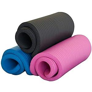 SISYAMA Knee Pad Cushion Yoga Exercise Workout w/Sling 20″x10″x15mm Thick Mini Mat