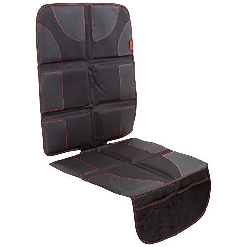 (Car Seat Protector with Thickest Padding - Featuring XL Size (Best Coverage Available), Durable, Waterproof 600D Fabric, PVC Leather Reinforced Corners & 2 Large Pockets for Handy Storage)