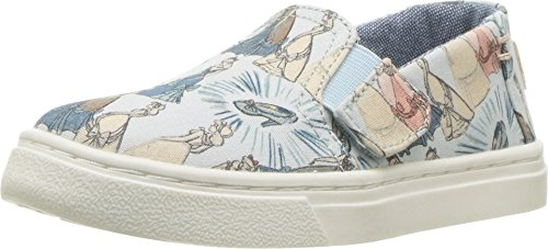 - TOMS Kids Baby Girl's Luca Disney¿ Princesses (Infant/Toddler/Little Kid) Blue Cinderella Printed Canvas 3 M US Infant M