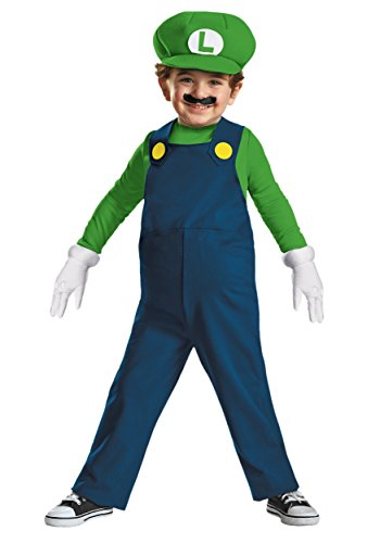 Disguise Nintendo Super Mario Brothers Luigi Boys Toddler Costume, Medium/3T-4T (Mario And Luigi Costumes Kids)