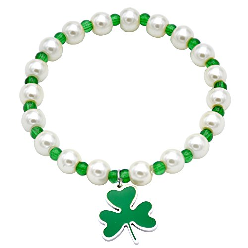 O.RIYA St. Patrick's Day Jewelry Bracelet Shamrock with