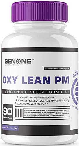 OxyLean PM Sleep Formula, All Natural Ingredients with Melatonin, Ashwaganda, Passion Flower Extract, Herbal Supplement Pills, Wake Up Refreshed and Revived with No Hangover Effect!