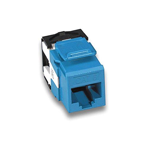 Leviton 61110-RL6 eXtreme 6+ QuickPort Connector, CAT 6, Blue