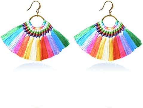 JOYA GIFT Boho Tassel Earrings Hoop Dangle Ear Drop Soriee for Women