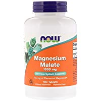 Now Foods Magnesium Malate, 1 000 mg, 180 tabletter, sojafrei, glutenfri, 300 g