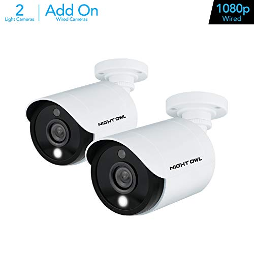 Night Owl Wired 1080p HD Weatherproof Indoor/Outdoor Add-on Cameras with Built-in Motion-Activated Spotlights, 100 ft. of Night Vision, 100° Wide Viewing Angle and L2 Color Boost Technology (2-Pack) in USA