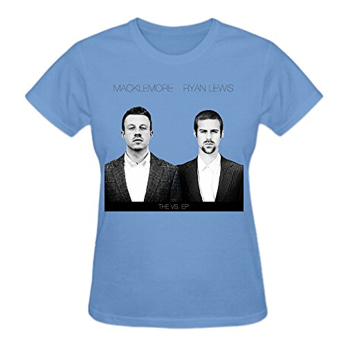 Macklemore the vs ep Premium cotton Vintage T-Shirts For Women O Neck Blue