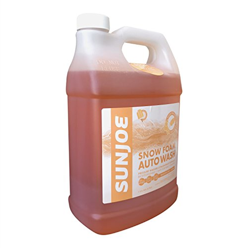 Sun Joe SPX-FCS1G-CRM Premium Snow Foam Orange-Vanilla Scent Car Wash Soap & Cleaner, 1 Gallon (Best Car Wash Solution)