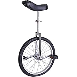 """AW 20"""" Inch Wheel Unicycle Leakproof Butyl Tire Wheel Cycling Outdoor Sports Fitness Exercise Health Silver"""