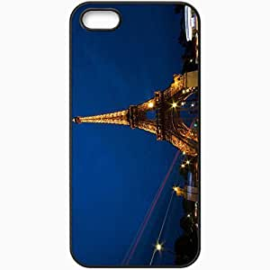 Protective Case Back Cover For iPhone 5 5S Case Eiffel Tower La Tour Eiffel France Paris Eiffel Tower France Black