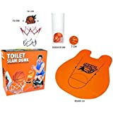 'Barwench Games' Toilet Basketball Game, Hilarious Hoop Practice in the Bathroom!