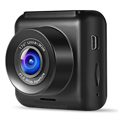 apeman Mini In Car Dash Cam 1080P FHD CarDVR 170°Wide Angle Advanced...