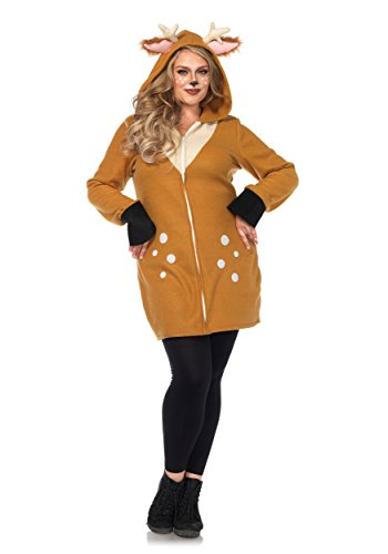 [Plus Size Cozy Fawn Costume 1X/2X] (Fawn Costumes For Adults)