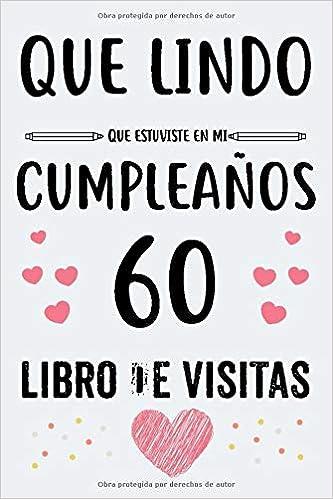 Cumpleaños 60 De Visitas: Para mujer y hombre regalo 60 años ...