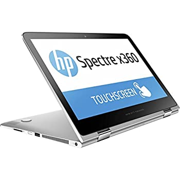 "HP Spectre 13 x360 2-IN-1 Convertible Laptop: 13.3"" FHD (1920x1080) Touchscreen, Intel i5-7200U, 256GB SSD, 8GB RAM, Thunderbolt, Backlit Keyboard, Windows 10 - Silver (Certified Refurbished)"
