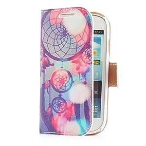 TY- Sueño Funda de cuero Catcher Estilo con ranura para tarjetas y soporte para Samsung Galaxy S3 i8190 Mini