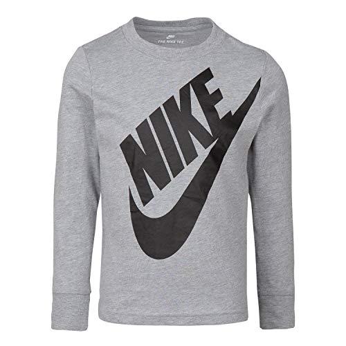 - NIKE Children's Apparel Boys' Toddler Long Sleeve Sportswear Graphic T-Shirt, Dark Grey Heather, 4T