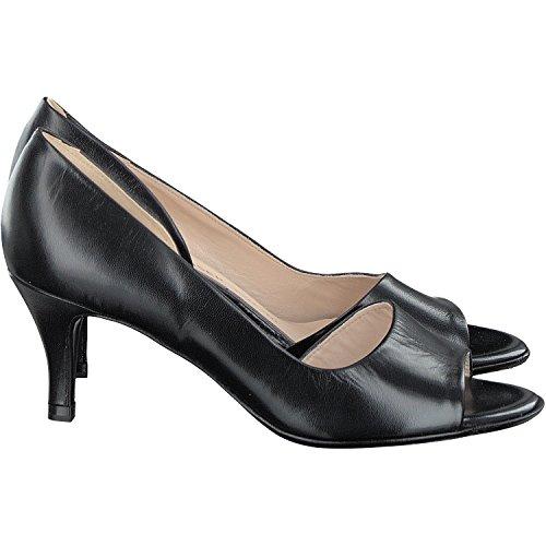 Noir En Jamala Bout 18 Femmes Cuir Ouvert Chaussures Black Peter Kaiser PwSzRqUR