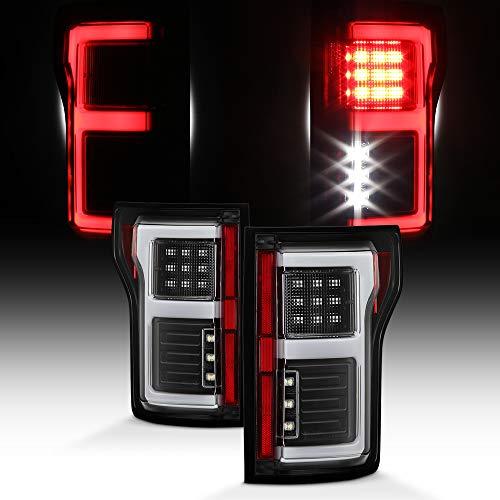 Tail Housing Set - For 2015-2017 Ford F150 Full LED Daytime Running Lamp Bar Tail Lights Black Housing Clear Lens Full Set