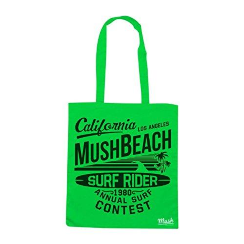 Borsa California Mush Beach Surfrider Contest - Verde prato - Mush by Mush Dress Your Style