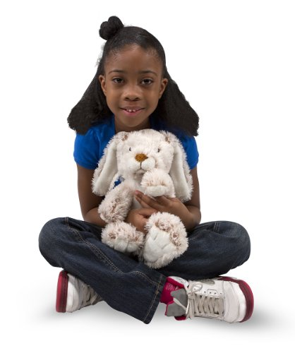 Melissa & Doug Plush Burrow Bunny Rabbit Stuffed Animal, 9-Inch