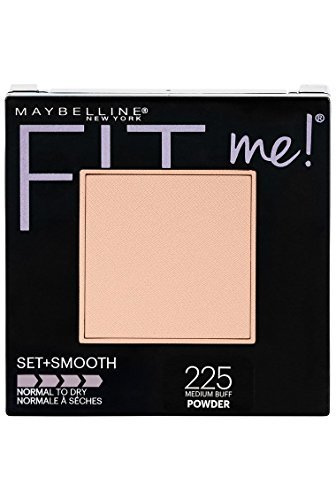 Maybelline New York Fit Me Set + Smooth Powder Makeup, Medium Buff, 0.3 oz.