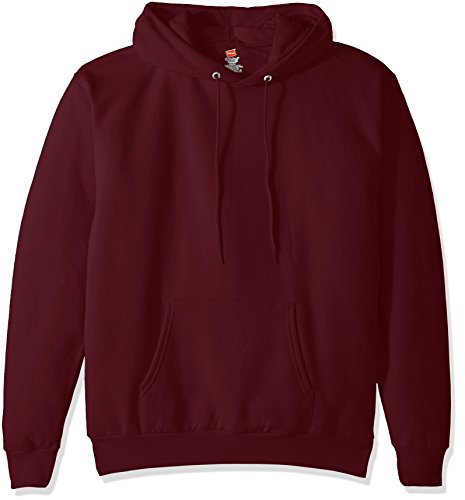 Maroon Hoody Sweatshirt (Hanes Men's Pullover EcoSmart Fleece Hooded Sweatshirt, Maroon, X Large)