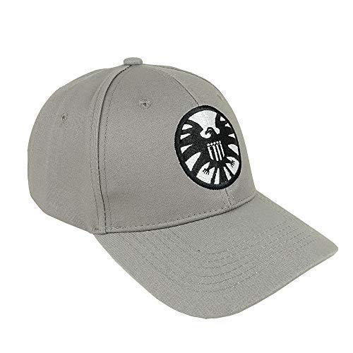 8b0321a8c Captain Marvel Cosplay Hat Grey Embroidery Shield Carol Susan Jane Danvers  Cosplay Hat