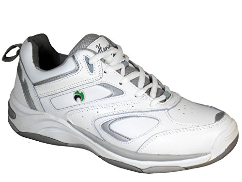 Bowls Ladies Quality LPS44 Lawn Leather White Shoes Wider Fit Henselite rarqX