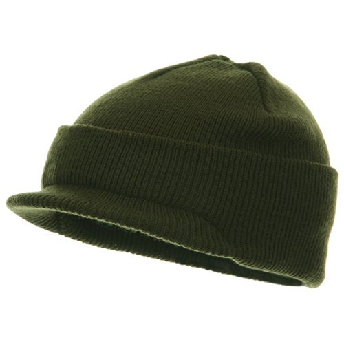 (Youth Beanie Jeep Cap - Olive)