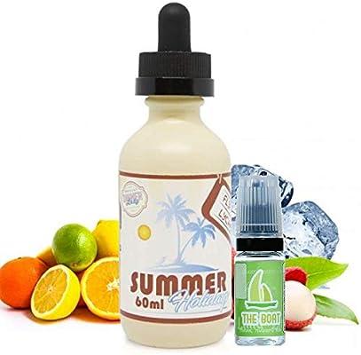 E Liquid Dinner Lady Summer Holidays Flip Flop Lychee 50ml - 70vg 30pg - booster shortfill + E